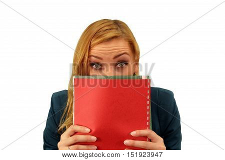 Portrait Of Confused Surprised Young Woman