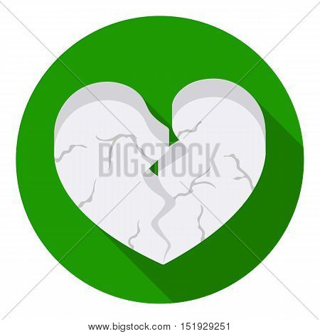 Heart icon in flat style isolated on white background. Romantic symbol vector illustration.