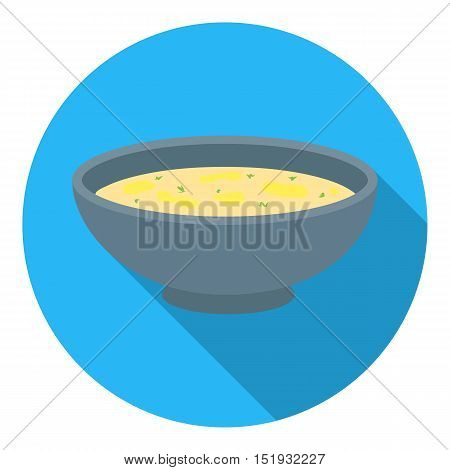Miso soup icon in flat style isolated on white background. Sushi symbol vector illustration.