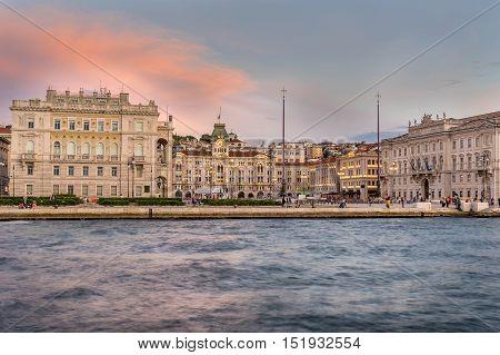 The Piazza Dell Unita D Italia in Trieste Italy