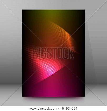 Background Report Brochure Cover Pages A4 Style Abstract Glow51