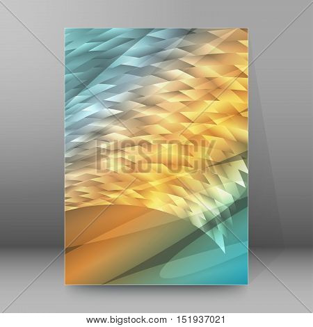 Background Report Brochure Cover Pages A4 Style Abstract Glow57