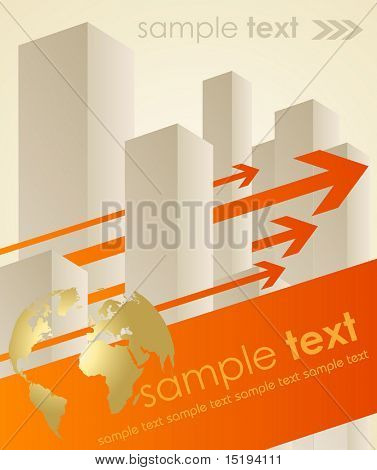 business concept background - vector illustration