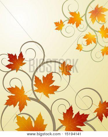 autumnal concept background - vector illustration