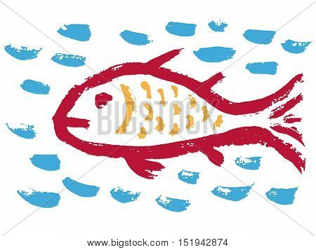 illustration of a fish, an ancient Christian symbol