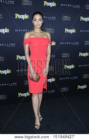 LOS ANGELES - OCT 13:  Lindsay Morgan at the People's One to Watch Party at the E.P. & L.P on October 13, 2016 in Los Angeles, CA