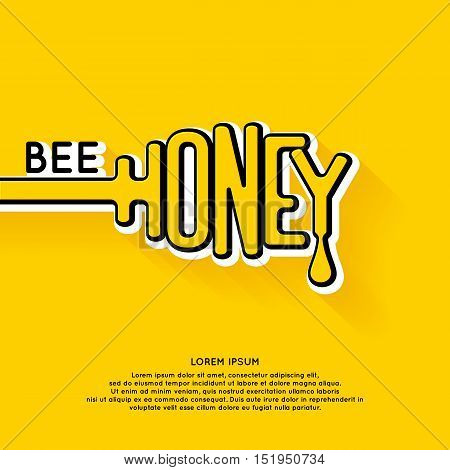 Logo bee honey. Stylish and modern logo for Apicultural products. Vector illustration.
