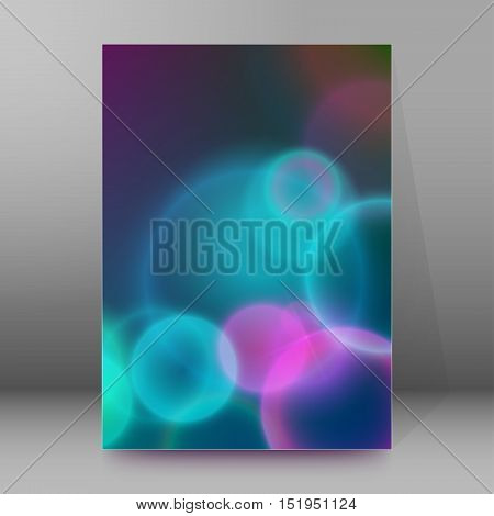 Background Report Brochure Cover Pages A4 Style Abstract Glow75