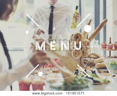 Menu Food Restaurant Resto Meal Concept