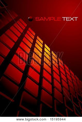 red abstract background composition - vector illustration - jpeg version in my portfolio