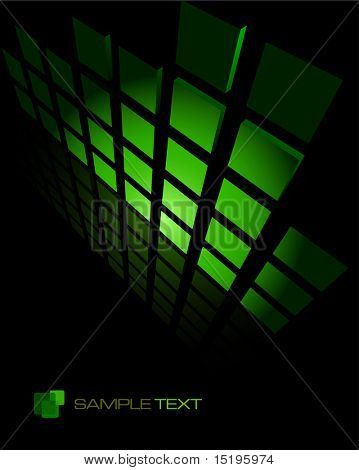 black&green abstract background composition - vector illustration - jpeg version in my portfolio