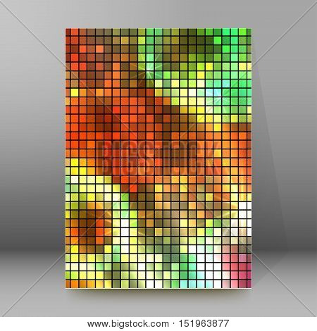Background Report Brochure Cover Pages A4 Style Abstract Glow85