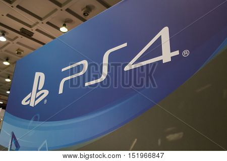 Playstation 4 Logo At Milan Games Week 2016