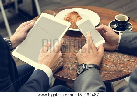 Layerspace Tablet Mobile Phone Business Men Concept