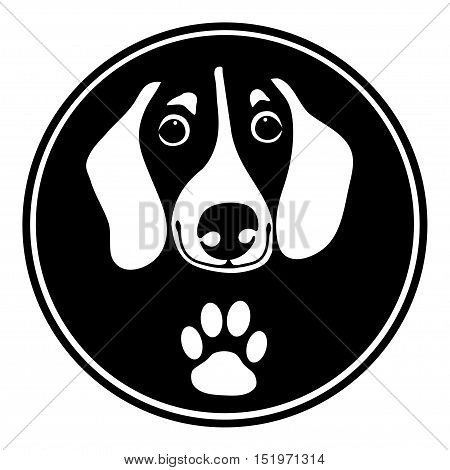 Black White Dachshund Vector Photo Free Trial