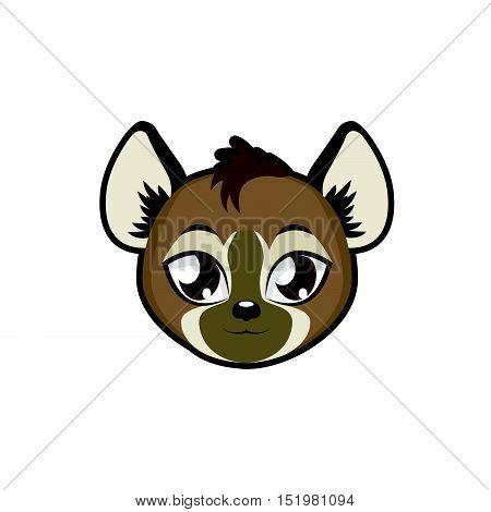 Hyena portrait illustration art for multiple purposes