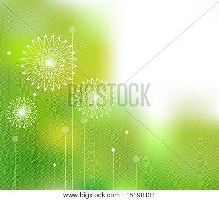 Abstract spring concept
