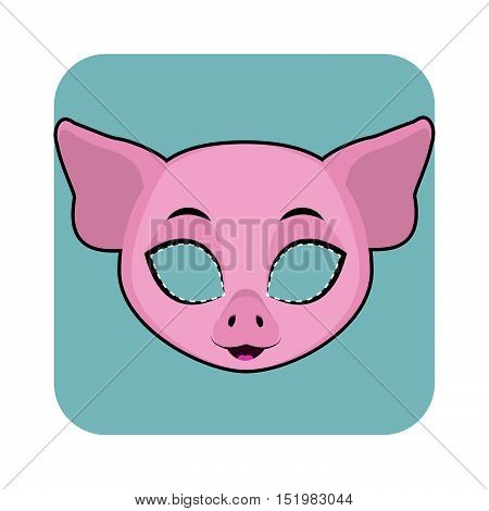 Pig Mask For Halloween And Other Festivities