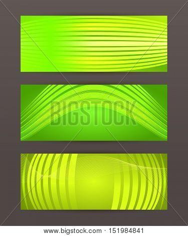 Set Horizontal Banner Headline Abstract Glow Lines16