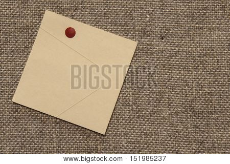 sticker on canvas canvas of gray brown linen
