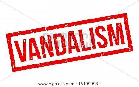 Vandalism Rubber Stamp