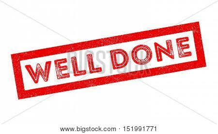 Well Done Rubber Stamp