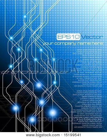 Blue elegant background - vector illustration