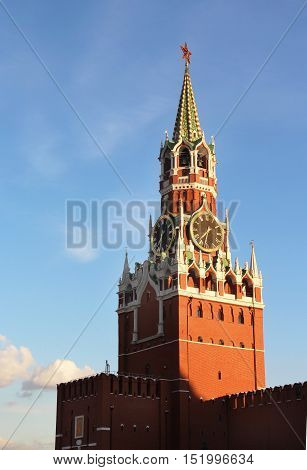 Beautiful view of Kremlin Moscow Russia, detail
