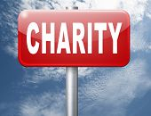 charity fund raising raise money to help donate give a generous donation or help with the fundraise gifts, road sign billboard. 3D illustration poster