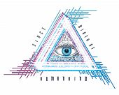 eye of providence mystical seeing astrology pyramid god poster