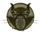 T-shirt Print Design Grumpy Grunge Cat Unusual Beast Weird Creature poster