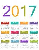 2017 Calendar Planner Design. Vector template design monthly date illustration 2017 calendar week organizer simple number. Organizer date 2017 year calendar month business template design. poster