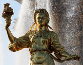 woman symbolizing Ukraine - part of the fountain Friendship of Nations All-Russian Exhibition Center Moscow poster
