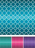 Moroccan weave pattern set in vector format. poster