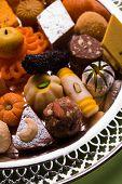 Mix Mithai or indian milk made sweets, favourite diwali, holi, dussehra, indian or pakistani wedding sweet food, diwali food poster