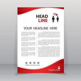 Vector of annual report template. layout in A4 size