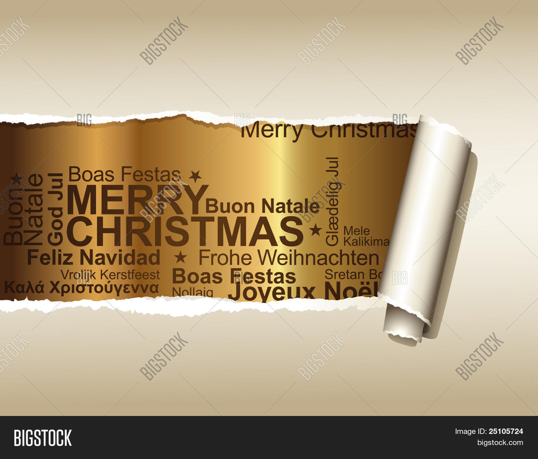 Frohe Weihnachten Verschiedene Sprachen Kostenlos.Vektorgrafik Und Foto Zu Kostenlose Probeversion Bigstock