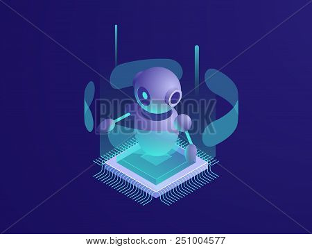 Artificial Intelligence Ai Robot, Server Room, Digital Technology Banner, Computer Equipment, Big Da