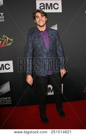 RJ Mitte arrives at the AMC's