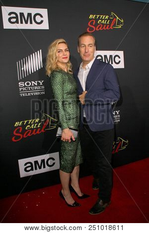 Rhea Seehorn, Bob Odenkirk arrive at the AMC's