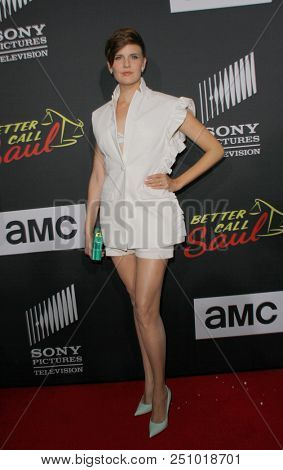 Maggie Grace arrives at the AMC's