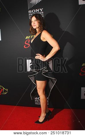 Betsy Brandt arrives at the AMC's