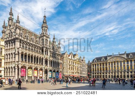 Brussels,belgium - May 18,2018 - At The Grote Markt (grand Place) In Brussels. Brussels Is The Capit