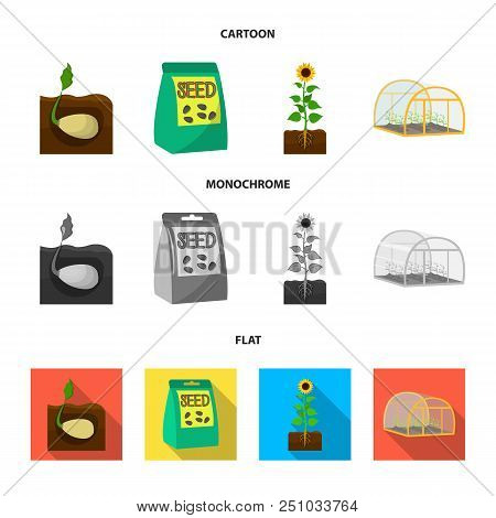 Company, Ecology, And Other  Icon In Cartoon, Flat, Monochrome Style. Husks, Fines, Garden Icons In