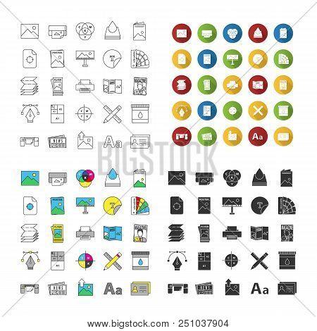 printing icons set vector photo free trial bigstock