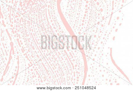 Grunge Texture. Distress Pink Rough Trace. Favorable Background. Noise Dirty Grunge Texture. Valuabl