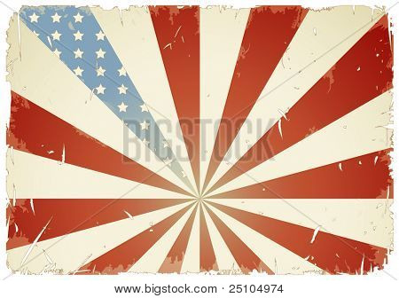 retro/grunge-styled american flag background