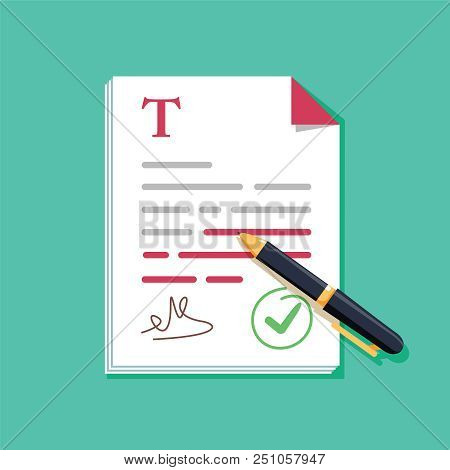 Contract Document Vector Photo Free Trial Bigstock