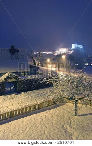 Kufstein Town At Night