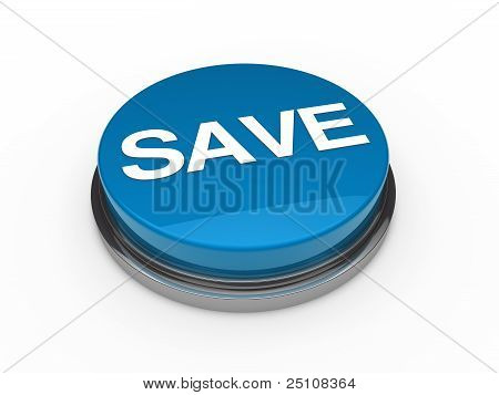 Button Green Chrome Save